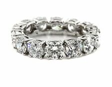 5.01 CT Natural Round Brilliant Diamond Lady's Eternity Band SI1/F14K White Gold