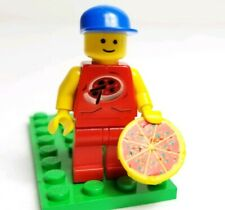 LEGO Vintage Classic Town City Pizza Delivery Boy Red Minifigure