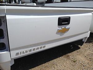 2014-18 Chevy Silverado Tailgate White NO LIFT ASSIST
