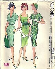 VTG McCall's Sewing Pattern 4956 1950's Casual Sheath Dress Size 12