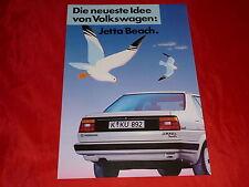 """VW Jetta """"Beach"""" Sondermodell Prospekt von 1986"""