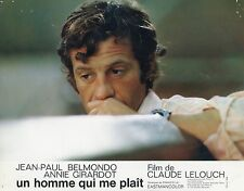 JEAN-PAUL BELMONDO UN HOMME QUI ME PLAIT 1969  VINTAGE LOBBY CARD N°7
