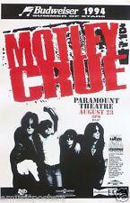 MOTLEY CRUE 1994 DENVER CONCERT TOUR POSTER -Heavy / Glam Metal, Hard Rock Music