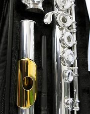 NEW Gemeinhardt 3OB Silver plate Flute, GOLD LIP, Open-Hole B-foot, offset G 30B