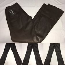 Woman' Leather Pants Size 30 In Brown. NWT