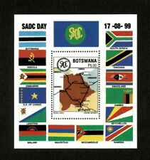 Botswana 1999 - SC#677 - SADC, Map of Road Links South Africa, Flags - S/S - MNH