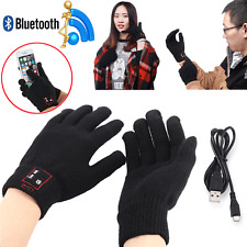 Bluetooth Talking Gloves Touch Screen Mobile Headset Speaker For iPhone Andriod