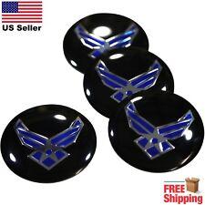 (PACK OF 4) US Air Force Wheel Center Cap Sticker Emblem Decals 2.25