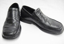 Ecco Mens Dress Shoes Slip On Loafers Black Leather Size 10 1/2 Good Condition