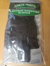 Uncle Mike's Leather Shooting Gloves Black Size Large 8999 - 3
