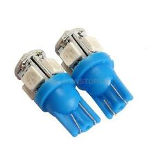 2PCS T10 5SMD-5050 LED 194 168 W5W Car Side Wedge Tail Light Blue Light hv2n