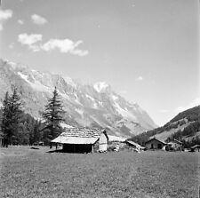 VAL VÉNY c. 1955 - Chalets d'Alpage Italie - Négatif 6 x 6 - ITAL 407