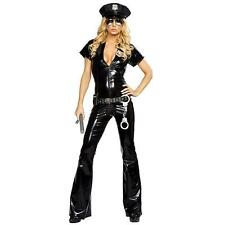Police Dress Fancy Costume Cop Halloween Party Women Uniform Officer Outfit