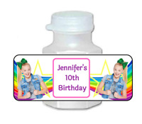 30 personalized Jojo siwa birthday party mini bubble labels stickers