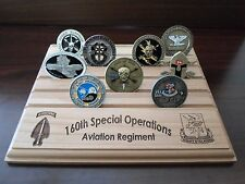 Military Challenge Coin Holder/Display 8x10, 160th Special Operations