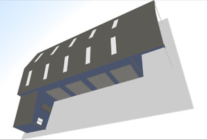 Steel Framed Buildings - M.O.T Service Repair Centre - 10m x 25m x 4.5m Building