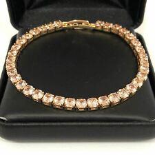 23 Ct Round Yellow Citrine Tennis Bracelet Women Wedding Engagement Jewelry Gift