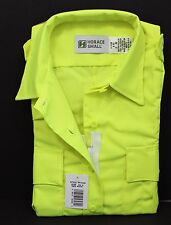 HI-VIS HORACE SMALL SENTRY SS ZIPPER SHIRT HI-VISIBILITY SAFETY YELLOW WOMENS XS