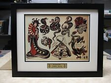 2 SAILOR JERRY Flash 16x20 Custom Frames GEISHA PIN UPS        machine rum gun