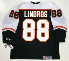 ERIC LINDROS PHILADELPHIA FLYERS BLACK CCM JERSEY XL NEW RARE