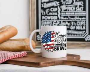 Independence Day Funny White Coffee Mug 11Oz Gift For Family Vintage happy fun