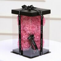Empty Gift Box for Artificial Teddy Bear Rose Flower Gift Box (bear not include)