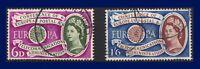 1960 SG621-622 6d-1s6d Europa First Anniversary Set (2) G/FU CV £5.25 agnr