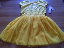 Girl Size Large 10-12 Disney Parks Star Wars C3PO Yellow Gold Tulle Skirt Dress