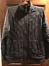 Ralph Lauren Polo Men's Quilted Fleece Lined Leather Trimmed Field Coat Jacket