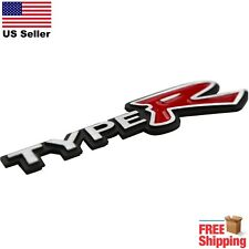 "3D Metal Type R Emblem Sticker Honda Civic Racing Performance |  6.25"" x 1.5"""