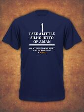 I See A Little Silhouetto Of A Man  Mango Queen Mens T-Shirt Navy