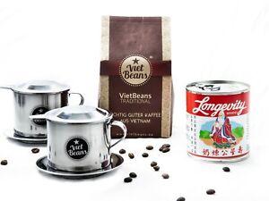 """Vietnamesisches Kaffee Starterset """"Frühstück zu zweit"""" - Gemahlener Röstkaffee"""
