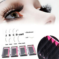 1Box Black Individual Eyelash Extension Mink Blink Lashes Tray Lash B C D J Curl