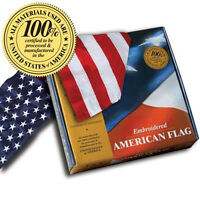 Embroidered American Flags *100% MADE IN U.S.A.* Allied Flag™ 2x3 3x5 4x6 & 5x8'