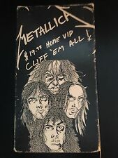 Metallica $19.98 Home Vid Cliff 'Em All! VHS Tape 1987