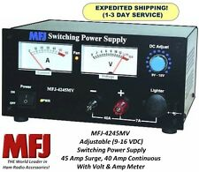 MFJ 4245MV Deluxe 12 Volt Adjustable 45 AMP Switching Power Supply - 4245 MV NEW