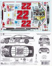 #22 Ward Burton Caterpillar Engines 2001 Slixx 1/24th - 1/25th Scale Decals 1693