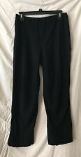 EILEEN FISHER BLACK VISCOSE NYLON SPANDEX STRETCHY WAIST COMFY PANTS SZ M