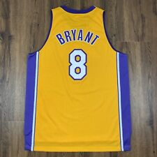 VINTAGE KOBE BRYANT #8 AUTHENTIC LAKERS JERSEY ADULT XL +2 Reebok MINT CONDITION