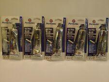 PERMATEX 81724 SENSOR-SAFE ULTRA BLUE SILICONE GASKET MAKER 3.35oz  New Lot of 5
