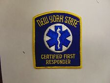 PATCH LAW ENFORCEMENT POLICE MEDICAL NEW YORK STATE CERTIFIED FIRST RESPONDER
