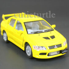 Kinsmart Mitsubishi Lancer Evolution EVO VII 1:36 Diecast Toy Car Yellow KT5052D