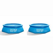 Intex 8ft X 30in fácil Set Hinchable Piscina Verano por encima de la tierra (2 Pack)