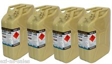 4 x 20L METAL JERRY CANS - OLIVE YELLOW (DIESEL) AUS STDS AS2906 + UN APPROVED