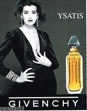PUBLICITE ADVERTISING 085  1996  YSATIS  parfum femme de GIVENCHY