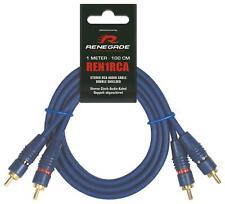Renegade REN1RCA Cinchkabel 1 m Cinch Stereo Audio Kabel 1 meter