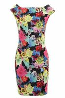 Women's Multi Colour Sleeveless Stretch Bodycon Floral Print Ladies Short Dress