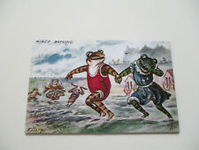 New listing Frog Magnet - Vintage picture of Girl & Boy Swimming