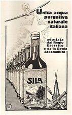 PUBBLICITA' 1928 ACQUA MINERALE SILA AERONAUTICA VERONA ESERCITO AREONAUTICA
