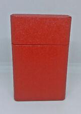 Fujima Tin Red Metallic Design King Size Cigarette CasePack Box (Full Lid)